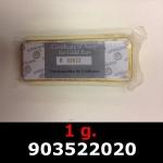 Réf. 903522020 1 gramme d\'or pur (Lingot LSP)  Issu d un lingot good delivery de 1 kilo - REVERS