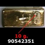 Réf. 90542351 10 grammes d\'or pur (LSP)  Issu d un lingot good delivery de 1 kilo - REVERS
