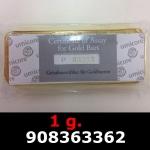 Réf. 908363362 1 gramme d\'or pur (Lingot LSP)  Issu d un lingot good delivery de 1 kilo - REVERS