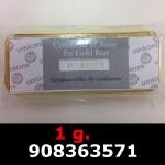 Réf. 908363571 1 gramme d\'or pur (Lingot LSP)  Issu d un lingot good delivery de 1 kilo - REVERS