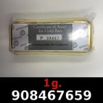 Réf. 908467659 1 gramme d\'or pur (Lingot LSP)  Issu d un lingot good delivery de 1 kilo - REVERS