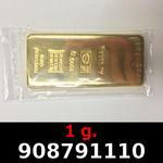 1 gramme d'or pur (Lingot LSP)  Issu d un lingot good delivery de 1 kilo