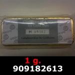 Réf. 909182613 1 gramme d\'or pur (Lingot LSP)  Issu d un lingot good delivery de 1 kilo - REVERS