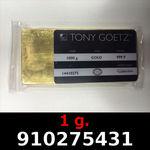 Réf. 910275431 1 gramme d\'or pur (Lingot LSP)  Issu d un lingot good delivery de 1 kilo - REVERS