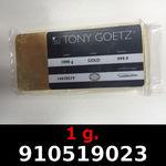 Réf. 910519023 1 gramme d\'or pur (Lingot LSP)  Issu d un lingot good delivery de 1 kilo - REVERS