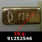 Réf. 91252546 10 grammes d\'or pur (LSP)  Issu d un lingot good delivery de 1 kilo - REVERS