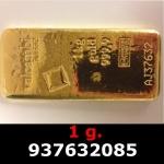 Réf. 937632085 1 gramme d\'or pur (Lingot LSP)  Issu d un lingot good delivery de 1 kilo - REVERS