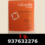 Réf. 937632276 1 gramme d\'or pur (Lingot LSP)  Issu d un lingot good delivery de 1 kilo - REVERS