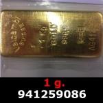 Réf. 941259086 1 gramme d\'or pur (Lingot LSP)  Issu d un lingot good delivery de 1 kilo - REVERS