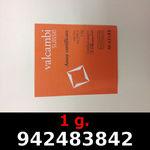 Réf. 942483842 1 gramme d\'or pur (Lingot LSP)  Issu d un lingot good delivery de 1 kilo - REVERS