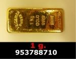 Réf. 953788710 1 gramme d\'or pur (Lingot LSP)  Issu d un lingot good delivery de 1 kilo - REVERS