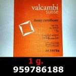 Réf. 959786188 1 gramme d\'or pur (Lingot LSP)  Issu d un lingot good delivery de 1 kilo - REVERS