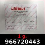 Réf. 966720443 1 gramme d\'or pur (Lingot LSP)  Issu d un lingot good delivery de 1 kilo - REVERS