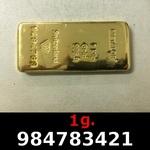 Réf. 984783421 1 gramme d\'or pur (Lingot LSP)  Issu d un lingot good delivery de 1 kilo - REVERS
