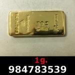 Réf. 984783539 1 gramme d\'or pur (Lingot LSP)  Issu d un lingot good delivery de 1 kilo - REVERS