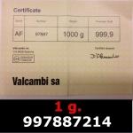 Réf. 997887214 1 gramme d\'or pur (Lingot LSP)  Issu d un lingot good delivery de 1 kilo - REVERS