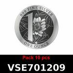 Réf. VSE701209 Lot 10 Vera Silver 1 once (Cours Légal - LSP)  Elizabeth II - Niue - REVERS