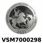 Réf. VSM7000298 Vera Silver 1 once (LSP)  Marianne terrassant le Dragon - REVERS