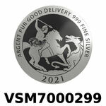 Réf. VSM7000299 Vera Silver 1 once (LSP)  Marianne terrassant le Dragon - REVERS