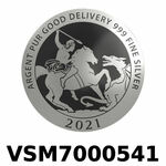 Réf. VSM7000541 Vera Silver 1 once (LSP)  Marianne terrassant le Dragon - REVERS