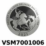 Réf. VSM7001006 Vera Silver 1 once (LSP)  Marianne terrassant le Dragon - REVERS