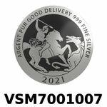 Réf. VSM7001007 Vera Silver 1 once (LSP)  Marianne terrassant le Dragon - REVERS