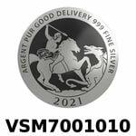 Réf. VSM7001010 Vera Silver 1 once (LSP)  Marianne terrassant le Dragon - REVERS
