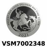 Réf. VSM7002348 Vera Silver 1 once (LSP)  Marianne terrassant le Dragon - REVERS