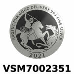 Réf. VSM7002351 Vera Silver 1 once (LSP)  Marianne terrassant le Dragon - REVERS