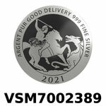 Réf. VSM7002389 Vera Silver 1 once (LSP)  Marianne terrassant le Dragon - REVERS