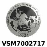 Réf. VSM7002717 Vera Silver 1 once (LSP)  Marianne terrassant le Dragon - REVERS