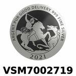 Réf. VSM7002719 Vera Silver 1 once (LSP)  Marianne terrassant le Dragon - REVERS
