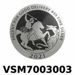 Réf. VSM7003003 Vera Silver 1 once (LSP)  Marianne terrassant le Dragon - REVERS