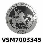 Réf. VSM7003345 Vera Silver 1 once (LSP)  Marianne terrassant le Dragon - REVERS