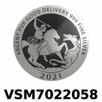 Réf. VSM7022058 Vera Silver 1 once (LSP)  Marianne terrassant le Dragon - REVERS