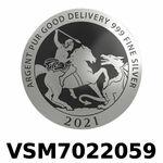 Réf. VSM7022059 Vera Silver 1 once (LSP)  Marianne terrassant le Dragon - REVERS
