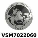 Réf. VSM7022060 Vera Silver 1 once (LSP)  Marianne terrassant le Dragon - REVERS