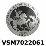 Réf. VSM7022061 Vera Silver 1 once (LSP)  Marianne terrassant le Dragon - REVERS