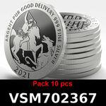 Réf. VSM702367 Lot 10 Vera Silver 1 once (LSP)  Marianne terrassant le Dragon - REVERS