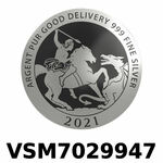 Réf. VSM7029947 Vera Silver 1 once (LSP)  Marianne terrassant le Dragon - REVERS